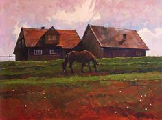 """Saatchi Art Artist Anastasia Yaroshevich; Painting, """"Little House on the Mount"""" #art"""