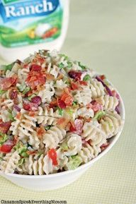 Ranch BLT Pasta Salad ... sounds like a GREAT summer salad!