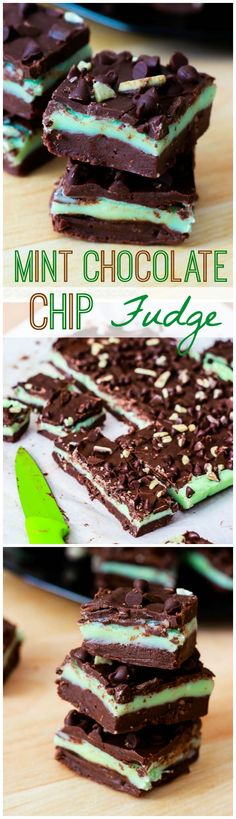 A giant Andes mint in fudge form. So good and dangerously easy! No candy thermometer required.