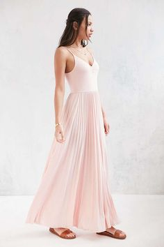 Kimchi Blue Ballet Cinch Pleated Maxi Dress - Urban Outfitters