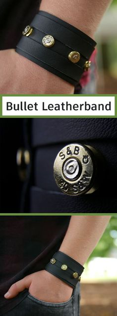This Bullet Leatherband project, that can be done by everyone without advanced crafting skills. It is a small and inexpensive weekend project, that might accentuate your own style in a pretty awesome way.