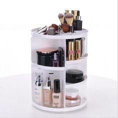 - Mode Rotierenden Make-Up Organizer Box Pinsel Halter Schmuck Organizer … Fashion Rotating Makeup Organizer Box Brush Holder Jewelry Organizer Case Jewelry – - Cosmetic Items, Cosmetic Storage, Makeup Storage, Jewelry Organization, Jewelry Storage, Jewelry Case, Cosmetic Display, Organisation Hacks, Diy Jewelry