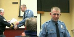 The first photos of Darren Wilson, the Ferguson, Missouri cop who fatally shot black teen Michael Brown, have emerged.  Yahoo News first discovered the photo through the Facebook page of Wilson's parents, who congratulated him for receiving a comme...