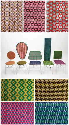 W  These amazing chairs have been created by product designers, Qiongjie Yu and Siwen Huang, and sold under the brand, W & Q. They have taken traditional bamboo weaving techniques, partnered them with steel and colors to produce great contemporary pieces. I'm intrigued by the bamboo caning patterns created.  http://sunsetgurldesign.typepad.com/weblog/chatels/page/7/#