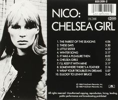 Nico Chelsea Girl Back Cover