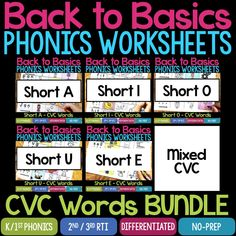Do your students need extra practice reading and writing words with short a phonics patterns? These Short A Phonics Worksheets & Activities are perfect! Short I Worksheets, Phonics Worksheets, Phonics Words, Cvc Words, Short E Words, Family Worksheet, Word Work Centers, Word Sorts, Writing Words