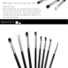 MAANGE 8Pcs Professional Makeup Brushes Set Black Pole Silver Tube Eyeshadow Cosmetics Brush Kits For Eye Make Up Tool-in Makeup Brushes & Tools from Health & Beauty on Aliexpress.com | Alibaba Group