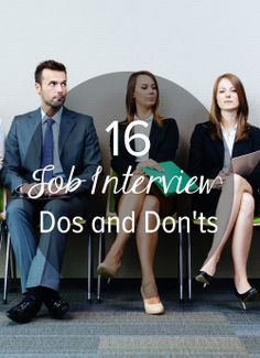 16 Major Dos and Don'ts at a Job Interview (no I'm not interviewing anywhere……. 16 Major Dos and Don'ts at a Job Interview (no I'm not interviewing anywhere….just good to have on hand! Job Interview Tips, Interview Questions, Job Interviews, Job Interview Hairstyles, Interview Nerves, Interview Techniques, Interview Answers, Career Development, Professional Development