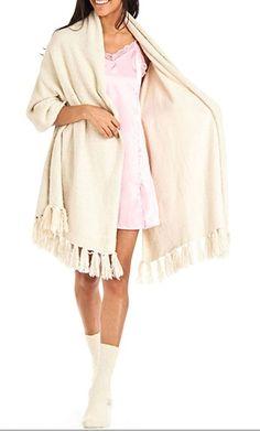 Aegean Apparel Women's Winter Marshmallow Cozy Sparkle Blanket Wrap
