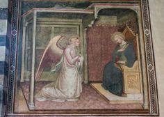 Fresco en la Basílica de San Domenico en Arezzo (Italia)