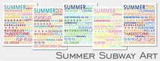Free Printable Friday: Summer Subway Art - Paperblog