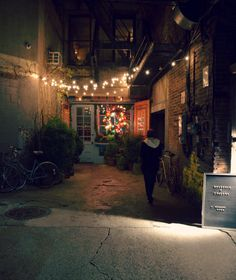 Freemans, NY -- at the end of a tiny alley on the Lower East Side