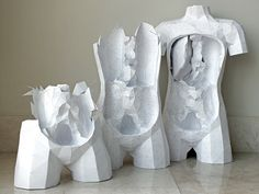 The Geometric Paper Torso, Now with DIY Templates and Tutorials paper models DIY anatomy