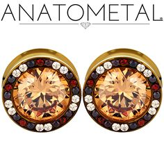 - Super Gemmed Eyelets - ANATOMETAL - Professional Grade Body Piercing Jewelry