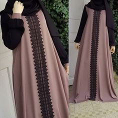 2018 Women Muslim Abaya Long Dress Vintage Long Sleeve Kaftan Islamic Turkish Arabic Appliques Plus Size Muslim Women Fashion, Islamic Fashion, Mode Abaya, Mode Hijab, Niqab Fashion, Fashion Outfits, Modesty Fashion, Hijab Style Dress, Abaya Style