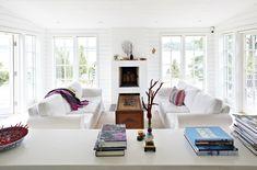 Vitmålad råspont i sommarhuset - Sköna hem