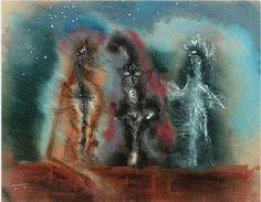 Tres Gatos by Leonora Carrington