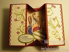Simple Box Card, you could put a gift card inside ~ Valita's Designs & Fresh Folds ... Video Tutorial ---> http://www.youtube.com/watch?v=q2jCZPyLT9s=youtu.be