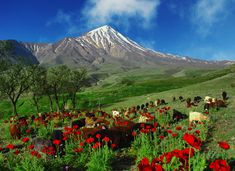 Mount Damavand , a potentially active volcano, is a stratovolcano which is the highest peak in Iran and the highest volcano in Asia