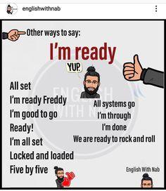 English Learning Spoken, Learn English Grammar, English Vocabulary Words, Learn English Words, English Language Learning, English Class, English Lessons, Other Ways To Say, English Writing Skills