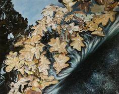 Original Paintings, Original Art, Autumn Leaves, Fallen Leaves, Surrealism Painting, Fall Nail Designs, Leaf Art, Artwork Online, Book Art
