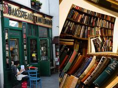 English Bookstores Paris: pictured: Shakespeare and Company.