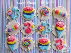Topes para cupcakes en fondant