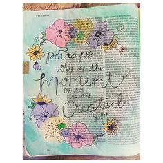 Esther 4:14 { perhaps this is the moment for which you were created } inspiration from the lovely tshirt over at @ashtonbrye #biblejournal #biblejournaling #bibleart #art #easter #camper #ashtonbrye #ashtonbry #home #flowers #floral #adventure #travel #springbreak #scetch #biblejournalinglife #biblejournalingdaily #biblejournalingcommunity #imprintedheart http://ift.tt/1KAavV3