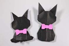 簡単折り紙 ネコ