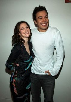 Drew Barrymore and Jimmy Fallon at event of Total Request Live (1998)
