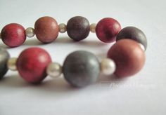 party fashion multicolor wood beads and manmade by productsofme, $8.90