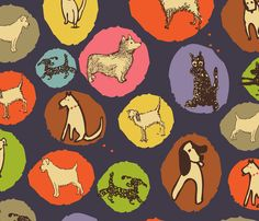 Mod Dog Print fabric by ceci_bowman on Spoonflower - custom fabric