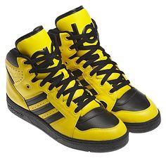 san francisco be577 d3309 The Best Men s Shoes And Footwear   Jeremy Scott Instinct Hi Shoes in Sun  Black Sun.