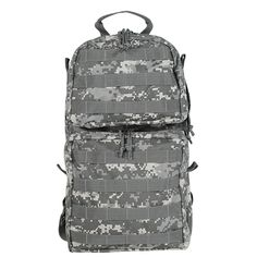 "Holds most size bladders. Right or left side hose exit. Metal grommet drain holes. Wear as a hydration pack or remove the harness and stow it in its own pouch. Attach carrier to your pack or vest. Back of carrier will hold any universal pouch.Dimensions: 9½""L X 3″W X 17″HCapacity: 8 Liters"