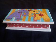 Elefantes Toy Chest, Storage Chest, Boxes, Furniture, Home Decor, Decorative Boxes, Painted Boxes, Elephants, Blue Prints