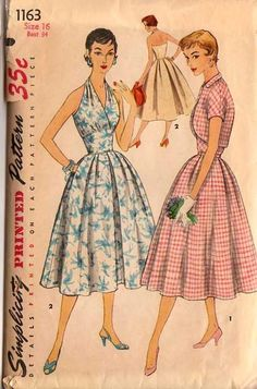 retro dress patterns
