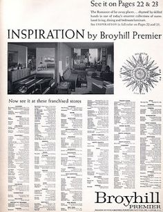 Captivating Mid Century Inspiration By Broyhill Premier Furniture Ad