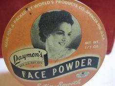 art deco Laymon's Face powder Tin container by puffadonna 1930s Makeup, Vintage Makeup, Vintage Vanity, Vintage Tins, Vintage Perfume, Vintage Beauty, Vanity Box, Vanity Fair, Powder Puff