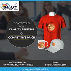 If you are looking for #QualityCustomPrinting with #CompetitivePrice then contact us.  Call Now: 9911312255, 9911212520  #TshirtPrinting
