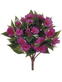 "13.7"" New Guinea Impatiens Bush Fuchsia (Pack of 6) Silk Decor http://www.amazon.com/dp/B004SIA4MY/ref=cm_sw_r_pi_dp_9a.Wvb01SEGDC"
