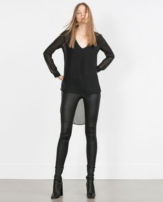 LONG BLACK TOP-View all-Tops-Woman-COLLECTION SS16 | ZARA United States