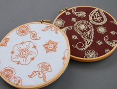 Photo3. Hand Embroidery Pattern Set, 1 Paisley Design and 1 Flowers Design. $5.00 Approx. £3.25
