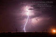 Lightning Over Altus AFB 03    Lightning over Altus Air Force Base taken on May 13th 2010.