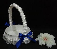 Cesta Blanca. # bodas para arras anillos o petalos