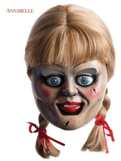 Halloween Annabelle Mask With Hair