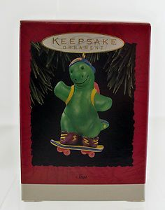 Hallmark Son Ornament 1994 Green Dinosaur Boxed Artist Patricia Andrews | eBay