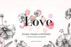 Check out Set of Florals hand drawns by SoNice on Creative Market