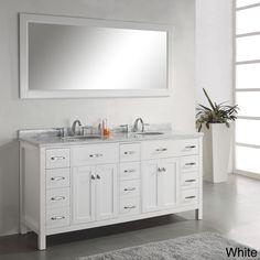 Virtu USA Caroline Parkway 72-inch Double Sink Bathroom Vanity Set - Overstock™ Shopping - Great Deals on VIRTU Bathroom Vanities