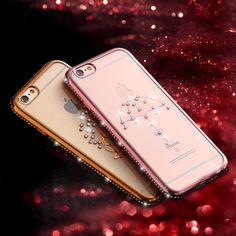 KISSCASE For iPhone 6 6S Case Bling Diamond Mosaic Plated Frame Owl Peacock Heart Swan Phone Cover For iPhone 6 6S 6 Plus 6S Pus