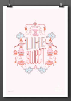 Tastes of Thailand: Sweet Advertising Agency:Bittersuite, South Africa Illustrators:Simone Hodgkiss, Stephi Holmwood Poster Series, Poster On, Packaging Design, Branding Design, Cool Color Palette, Thai Art, Create Awareness, Typography, Lettering